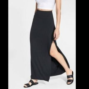 Athleta marina maxi skirt black size medium